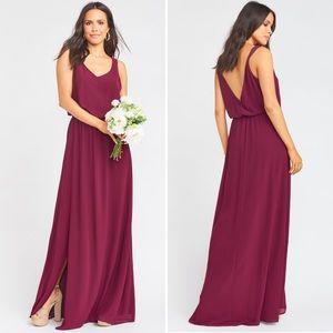 NWT Show Me Your MuMu Merlot Kendall Maxi Dress